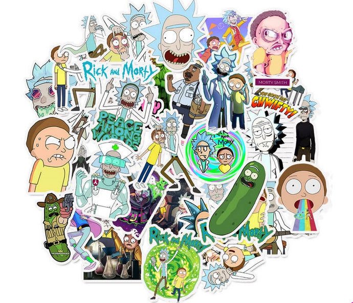 Rick and Morty 50pc stickers