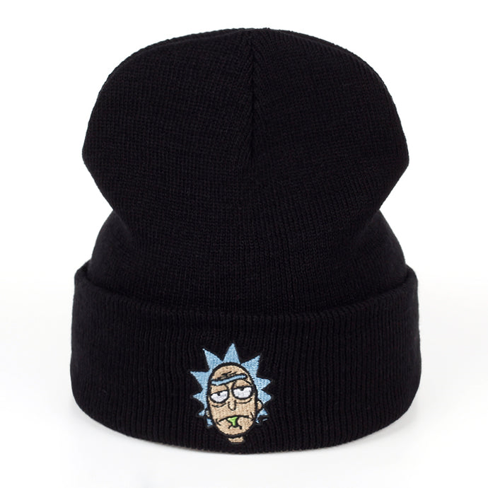 Rick and Morty Beanie, Unisex, comfortable embroidery