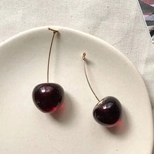 Load image into Gallery viewer, cherry earrings creative big large summer long berry unusual earrings