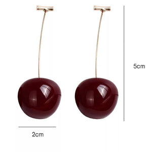 cherry earrings creative big large summer long berry unusual earrings