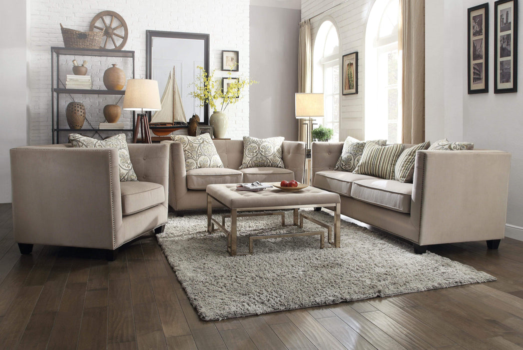Juliana Beige Chenille Sofa