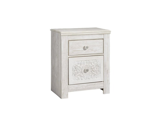 Paxberry White Wood Nightstand
