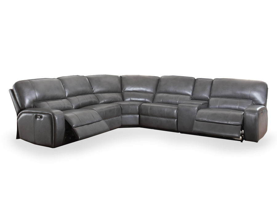 Saul Gray Fabric Power Recliner Sectional