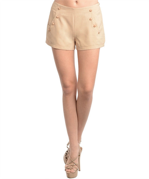 Shorts Khaki Gold Buttons 148538