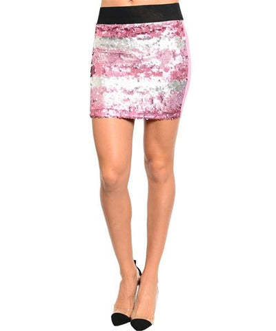 Mauve Sequin Skirt