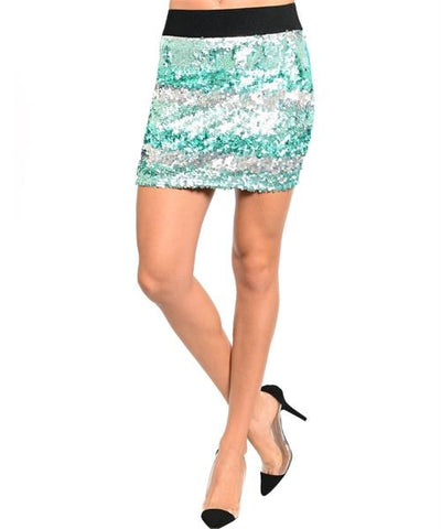 Jade Sequin Skirt