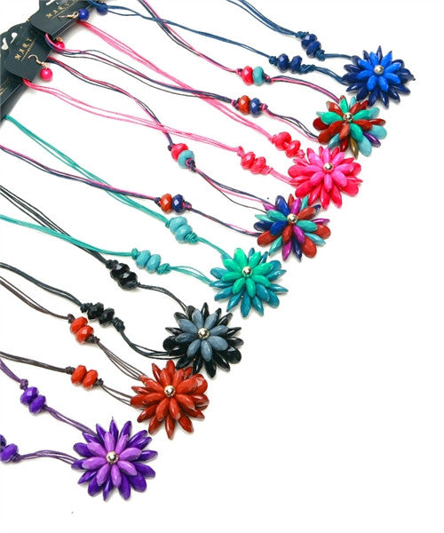 Necklace Flower Assorted 50282
