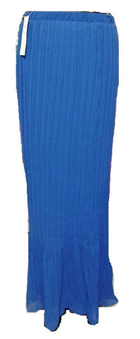 Apparel, Skirt, Maxi Pleated Royal Blue