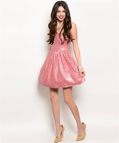 Blush Glam Sequin Dress