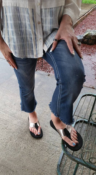 Teresa Frayed Capris by P4:13 Denim