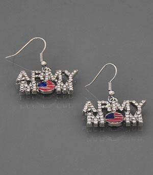 Collections Military, Army Mom Jewelry Earrings Fish Hook