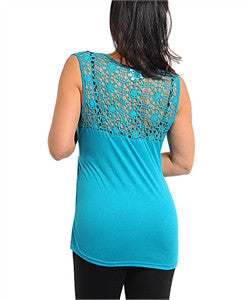 Top Plus Sleeveless Turquoise