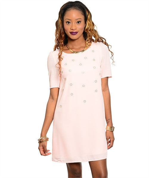 Pastel Pink Shift Dress
