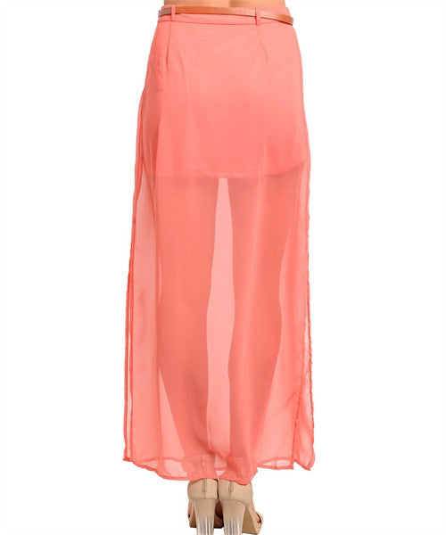 Skirt Maxi Coral With Belt 166652