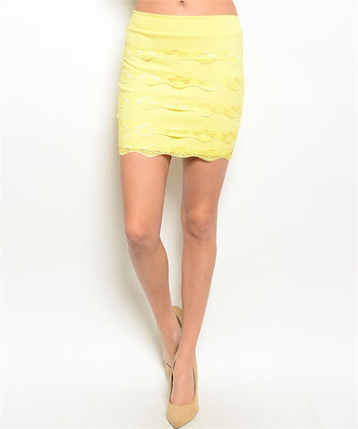 Skirt Yellow 26101