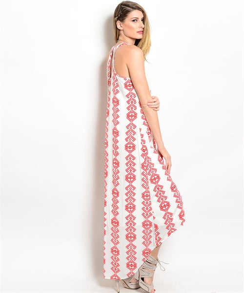 Dress Sleeveless Red Tribal 208463