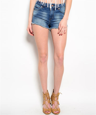 Shorts High Waist Blue Jean