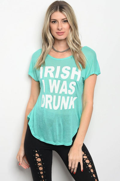 IRISH I WAS DRUNK Graphic Tank