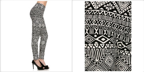 Apparel Leggings Tribal Geo