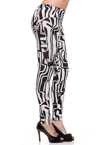 Leggings Ankle Hacci Geo B & W