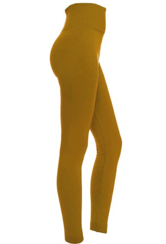 Mustard Fleece Leggings