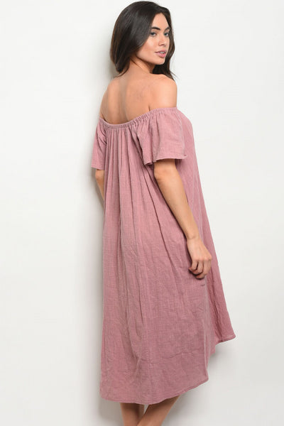Blush Dress worn Off the Shoulder or On the Shoulder