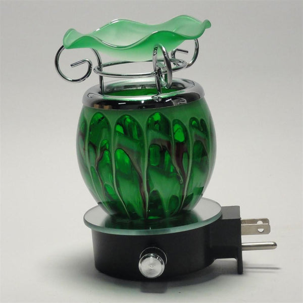 Glass Electric Plug In Night Light Oil Warmer, 721