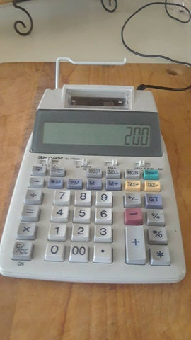 adding machine Sharp EL-1750V