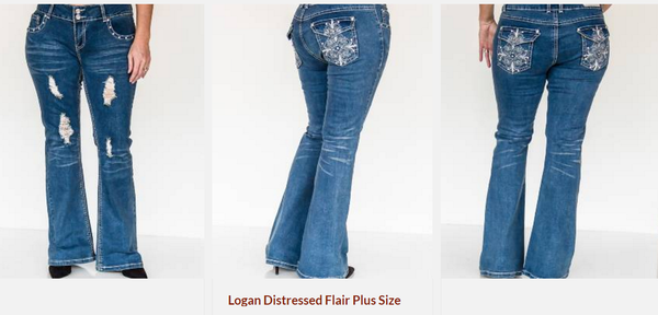 Logan Distressed Flair Jeans by P4:13 Denim