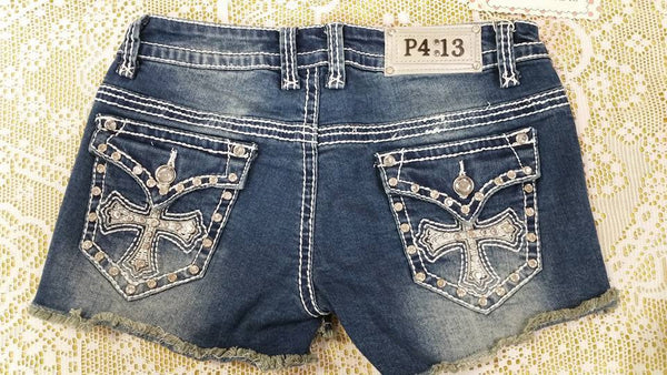 Melinda Fray Shorts by P4:13 Denim