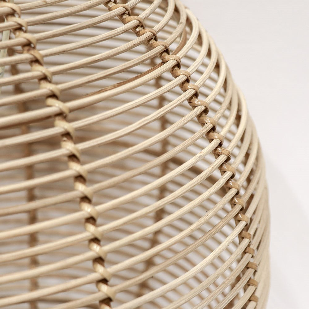 Rattan Globe Pendant - Natural - Large