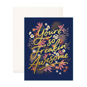 Freakin' Awesome Greeting Card - Addy & Lou