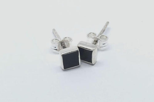 Goni Onyx Square Studs - Addy & Lou
