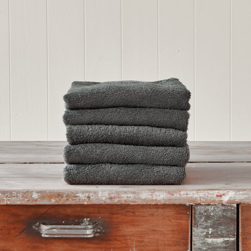 Steel Grey Hand Towel