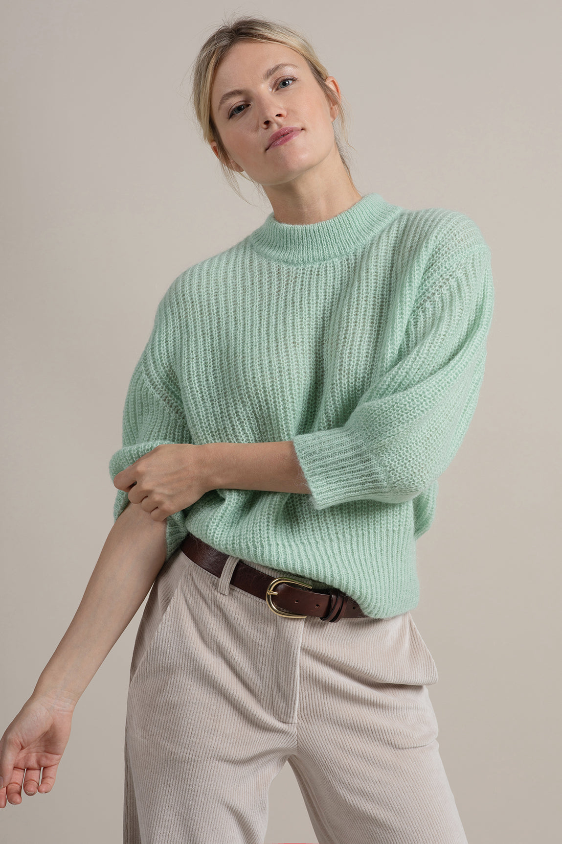 Joep Sweater Dark Mint