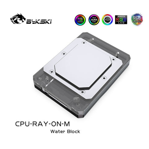 Bykski CPU-RAY-ON-M AMD Ryzen water cooling head (RBW)-CPU WATERBLOCK - Bykski