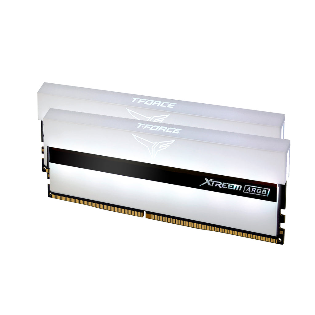 T-FORCE XTREEM ARGB DDR4 32GB (16GBx2) 3600Mhz RAM - AURORA WHITE