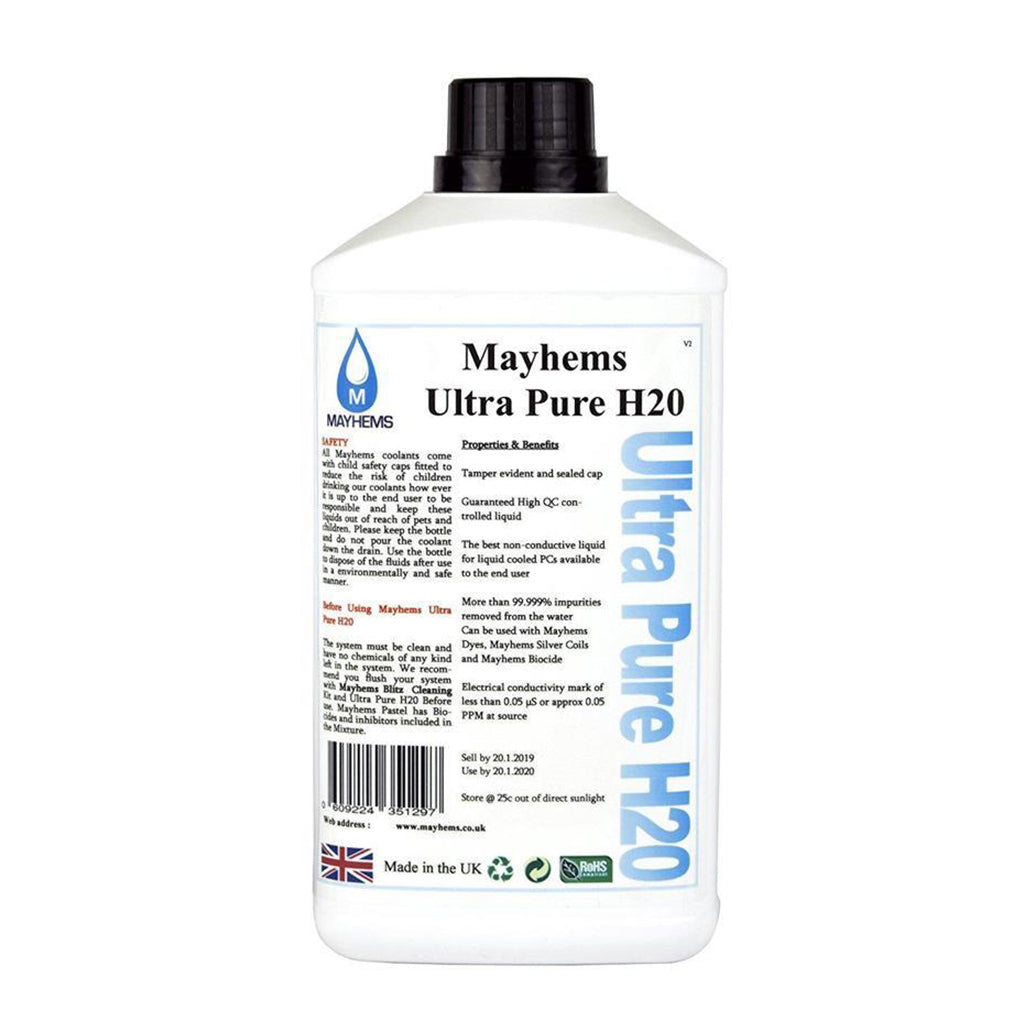 Mayhems Ultra Pure H2O Water cooling Fluid - 1L