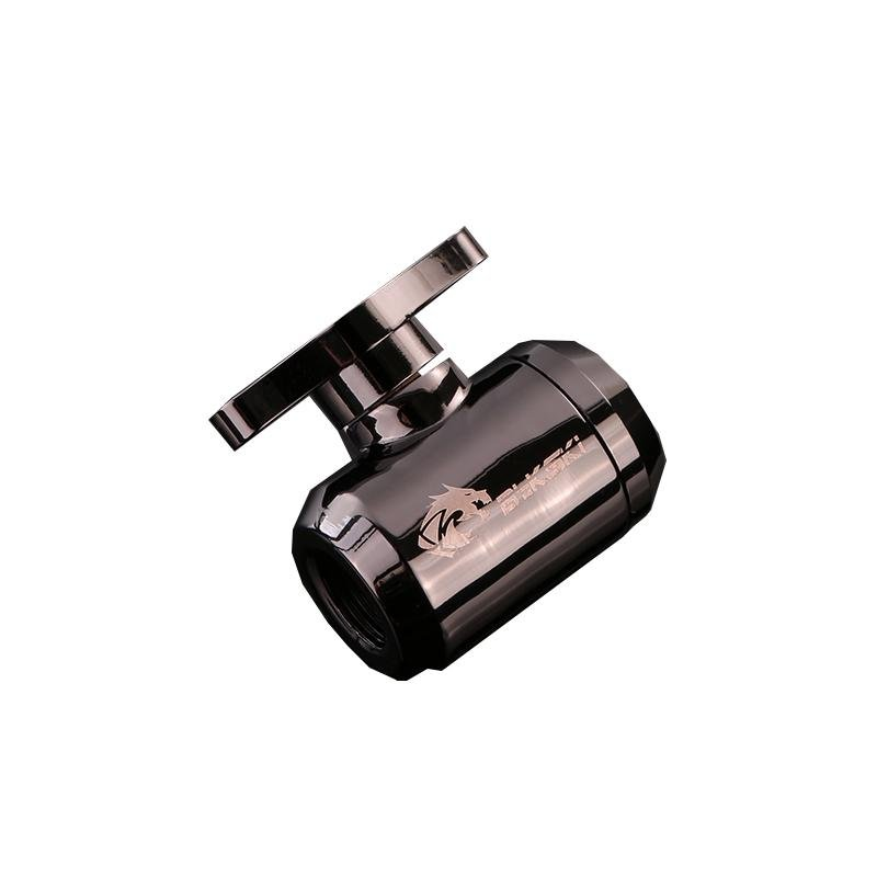 Bykski G1/4 Female to Female Drain Ball Valve Fitting - Gun Colour (B-DV-CEV2-GC)-Fittings - Bykski