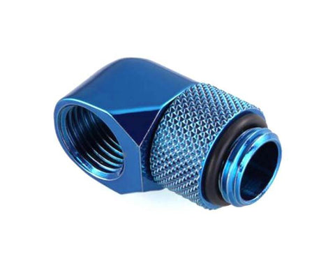Bykski G1/4 Male to Female 90 Degree Rotary Elbow Fitting - Blue (B-RD90-X-B)-Fittings - Bykski