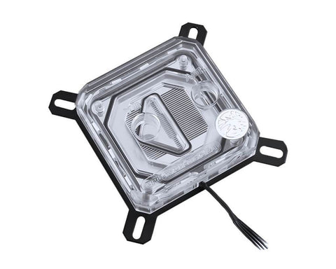 Bykski CPU-XPR-B-PA Intel CPU Water Cooling Block - Clear w/ 5v Addressable RGB (RBW) (LGA 115x / 20xx) (CPU-XPR-B-Intel)