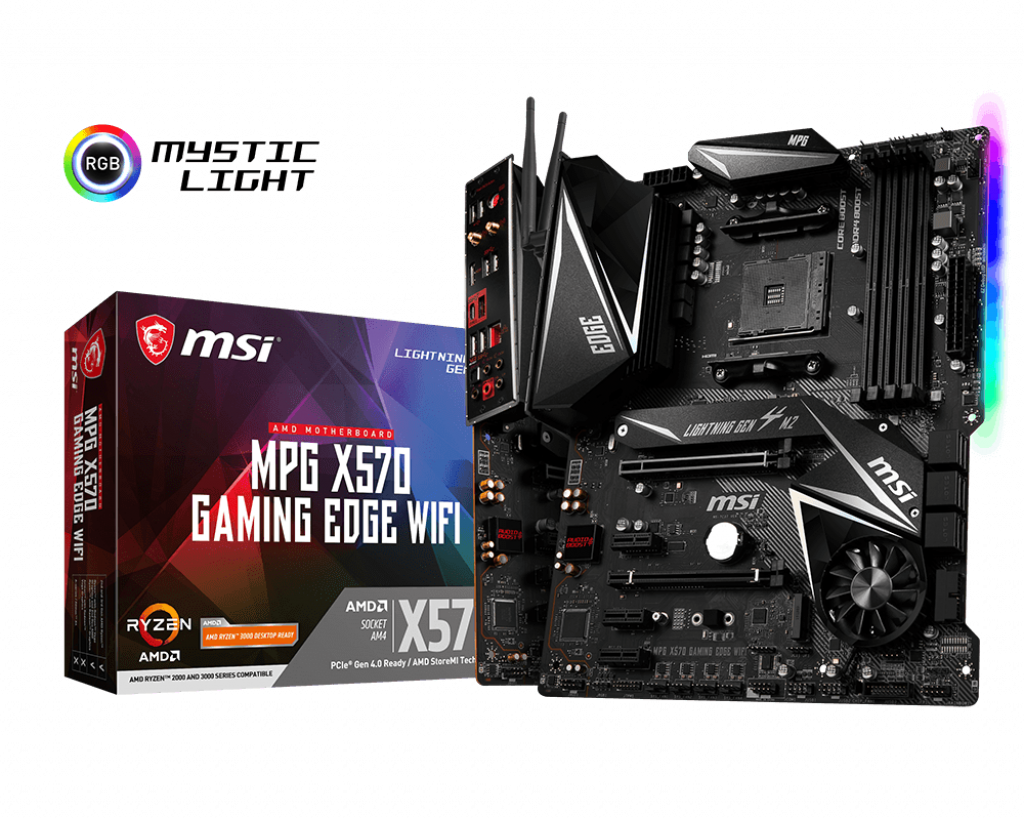MSI MPG X570 GAMING EDGE WIFI AMD Motherboard-Motherboard - Bykski