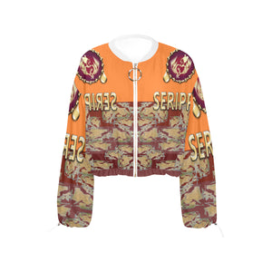 SERIPPY Cropped Chiffon Jacket for Women (Model H30) - serippymall