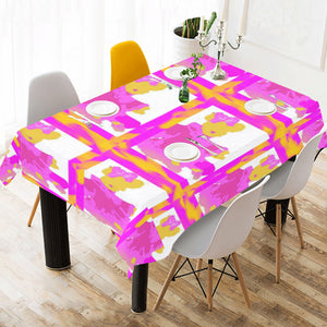 "SERIPPY Cotton Linen Tablecloth 60"" x 90"" - serippymall"
