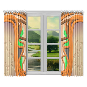 "SERIPPY Window Curtain 52""x84""(Two Pieces) - serippymall"