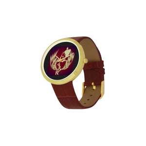 SERIPPY Women's Golden Leather Strap Watch(Model 212) - serippymall