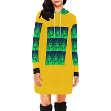 Load image into Gallery viewer, SERIPPY All Over Print Hoodie Mini Dress (Model H27) - serippymall
