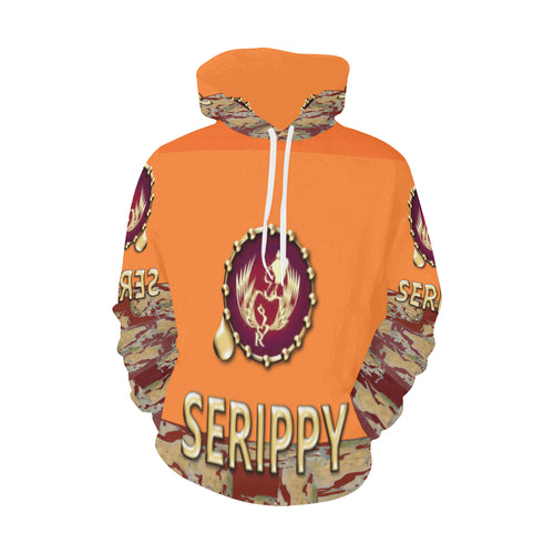 SERIPPY All Over Print Hoodie for Men/Large Size (USA Size) (Model H13) - serippymall