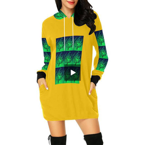 SERIPPY All Over Print Hoodie Mini Dress (Model H27) - serippymall