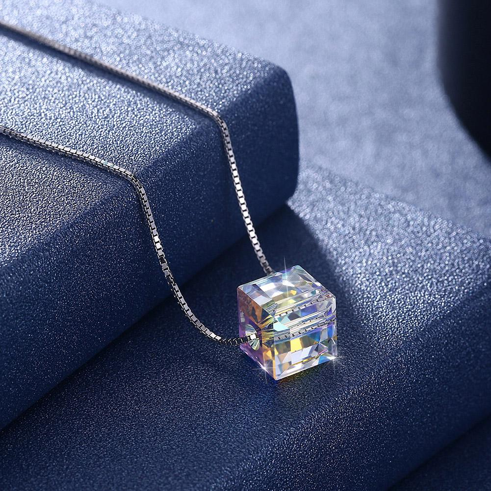 Sterling Silver Aurora Borealis Swarovski Elements Necklace- Two Options - serippymall